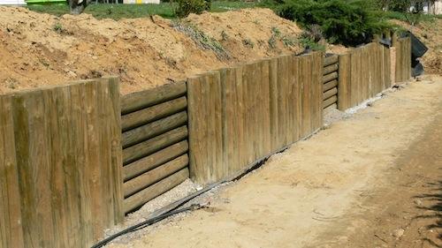 Mon mur en rondins de bois blog actupro # Mur Soutenement Rondin Bois