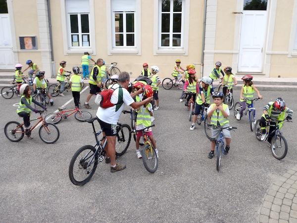Mise en place des groupes cyclistes